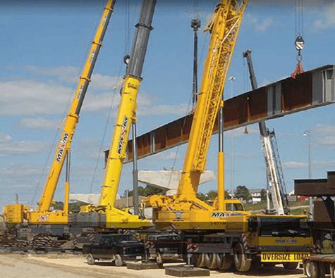 All Terrain Cranes, Mobile Crane Rental, Multi crane lift