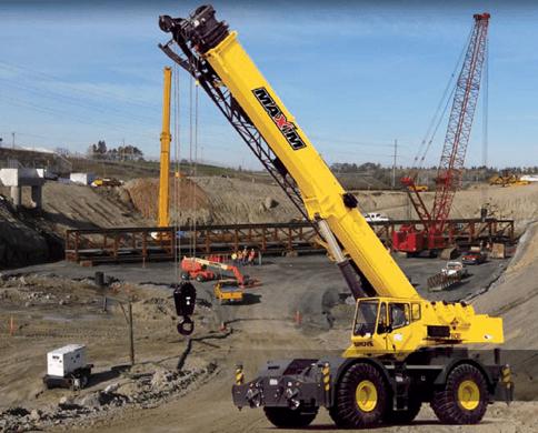 Rough Terrain Crane Rentals for Off-Road Projects