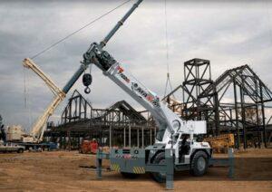 carry decks crane on construction site