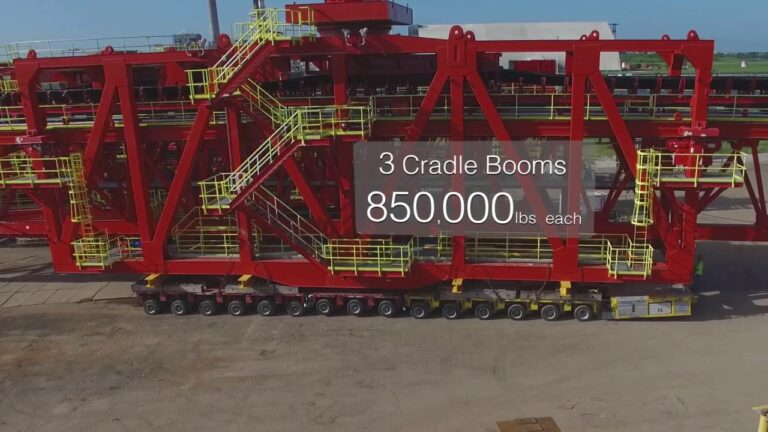 Maxim Crane Barge Load Out with Goldhofers/Coal Ship Loaders