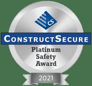 2021 ConstructSecure Platinum Safety Award