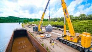 All-Terrain Crane, Dual Lift, Barge