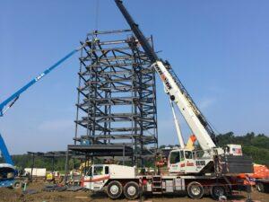 Hydraulic Truck Crane on construction site