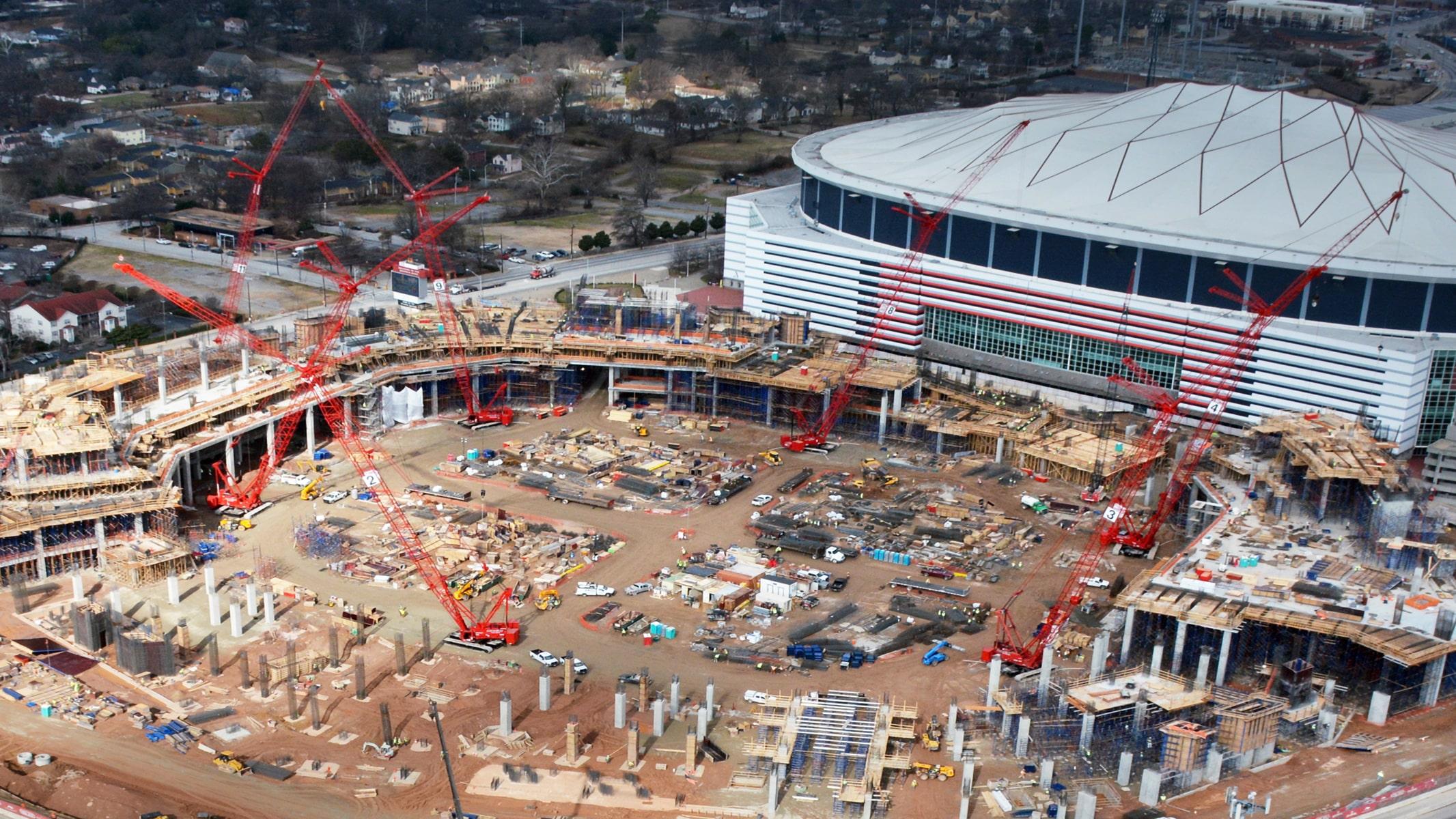 Mercedes-Benz Stadium Atlanta Falcons Crane Rental